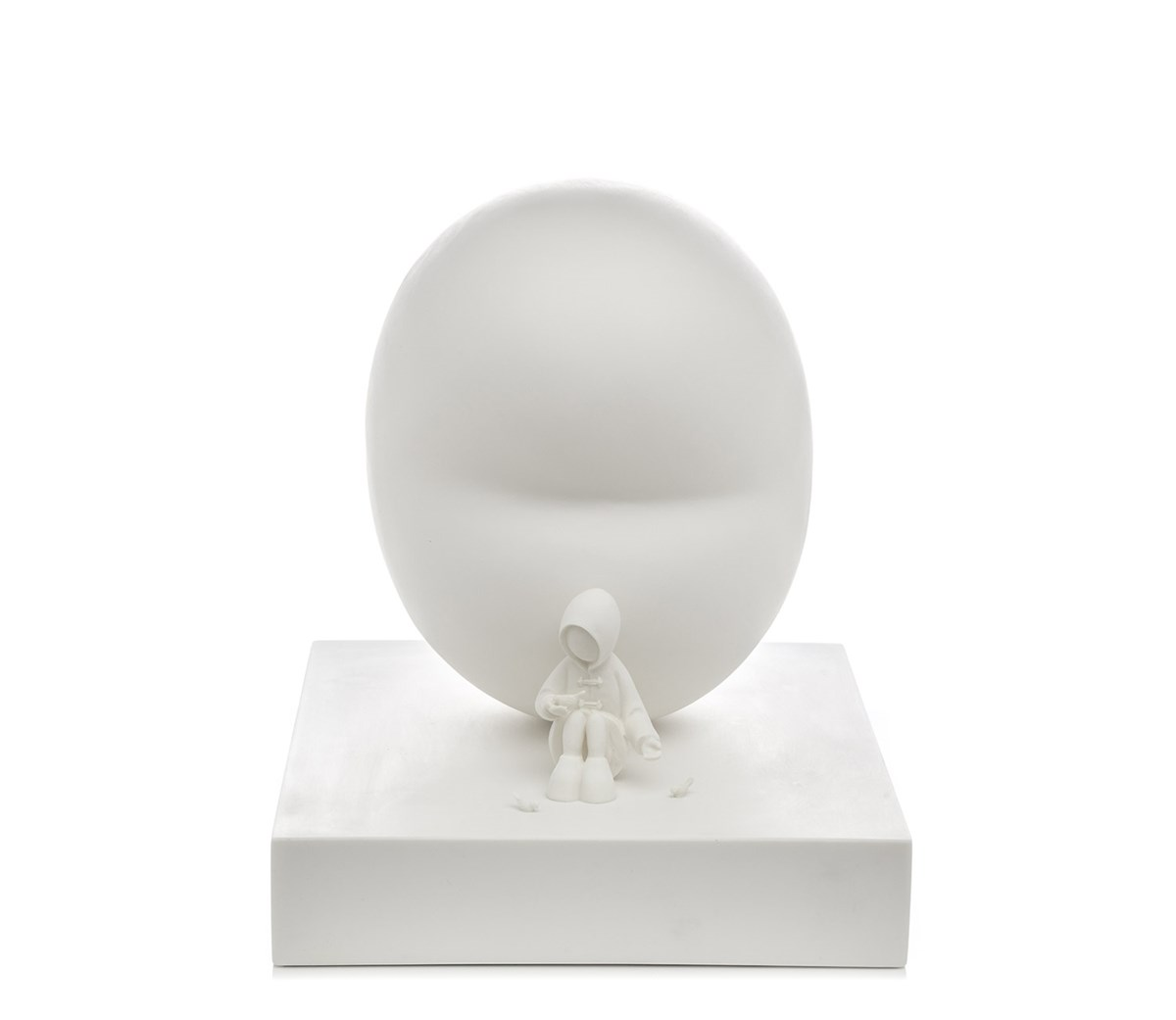 Feed the Birds by Mackenzie Thorpe - Cold Cast Porcelain Sculpture sized 12x14 inches. Available from Whitewall Galleries